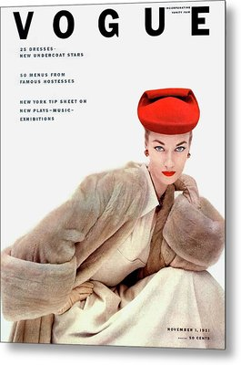 Vogue Cover Of Janet Randy Metal Print by Clifford Coffin