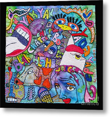 Voices In My Head Metal Print by Susan Sorrell