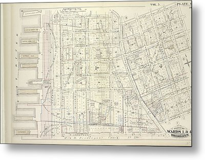 Vol. 5. Plate, C. Map Bound By Poplar St., Sands St., Jay Metal Print by Litz Collection