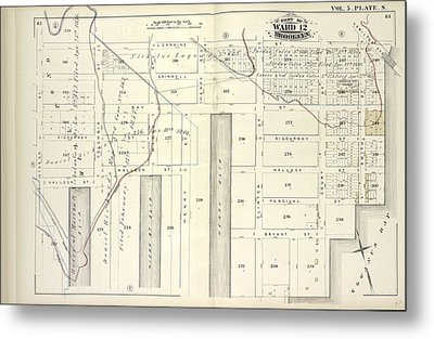 Vol. 5. Plate, S. Map Bound By Lorraine St., Hamilton Ave Metal Print by Litz Collection