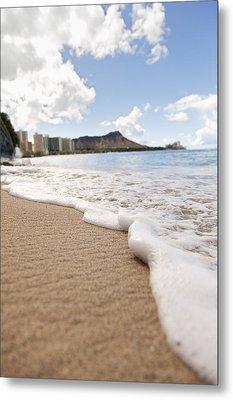 Waikiki Shore Metal Print by Brandon Tabiolo