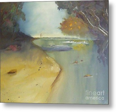 Waipu Cove In New Zealand Metal Print by Debra Piro