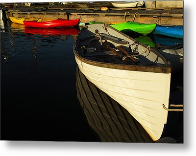 Waiting At The Dock Metal Print by Karol Livote