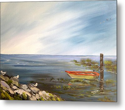 Waiting For The Fisherman Metal Print by Dorothy Maier