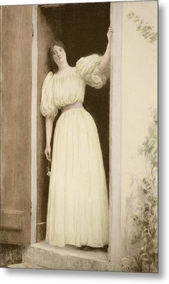 Waiting, From Lestampe Moderne Metal Print by Louis Joseph Raphael Collin