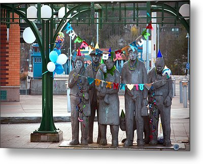 Waiting In The Interurban Metal Print by Joanna Madloch