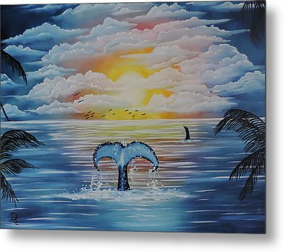 Metal Print featuring the painting Wale Tales by Dianna Lewis