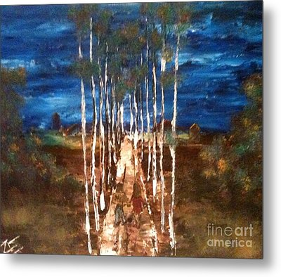 Metal Print featuring the painting Walk Me Home by Denise Tomasura