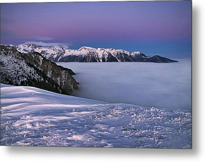 Metal Print featuring the photograph Walk On Clouds by Graham Hawcroft pixsellpix