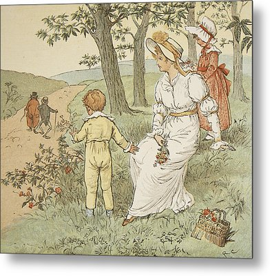 Walking To Mouseys Hall Metal Print by Randolph Caldecott