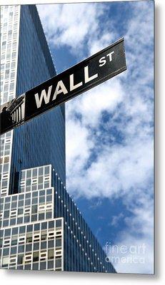 Wall Street Street Sign New York City Metal Print by Amy Cicconi