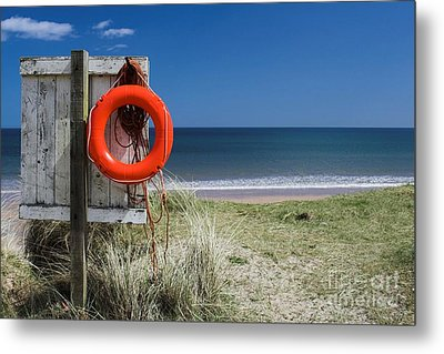 Metal Print featuring the photograph Warkworth Beach Northumberland Coast by Les Bell