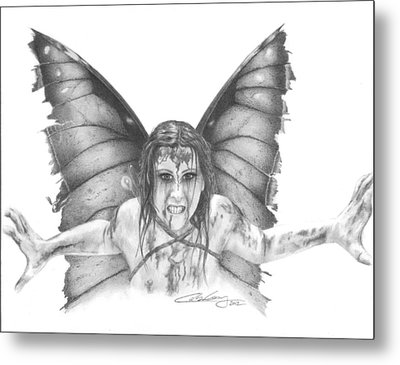 Warrior Fairy Metal Print by Carolee Conway