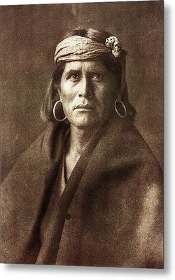 Warze Metal Print by Edward Curtis