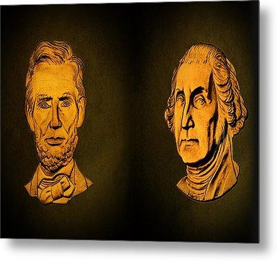 Washington And Lincoln Metal Print by David Dehner