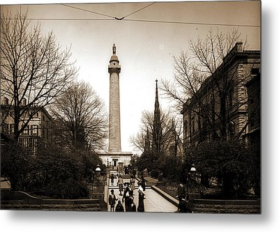 Washington Monument, Baltimore, Jackson, William Henry Metal Print by Litz Collection