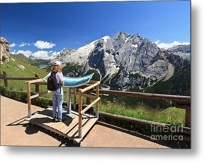 watching Marmolada mount Metal Print by Antonio Scarpi