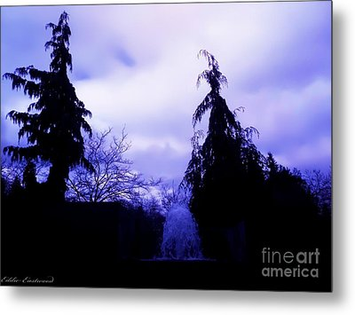 Metal Print featuring the photograph Water Fountain At Alderwood Business Center In Lynnwood Washington by Eddie Eastwood