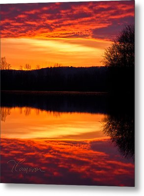 Water On Fire Metal Print by Tom Cameron
