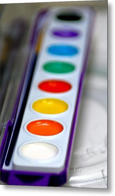Watercolor Paint Set Metal Print by Amy Cicconi
