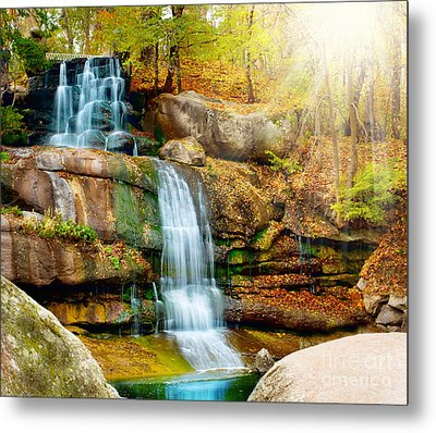 Metal Print featuring the photograph Waterfall Art by Boon Mee