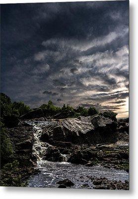 Waterfall At Sunrise Metal Print by Bob Orsillo