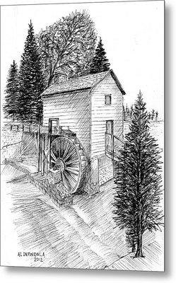 Waterwheel Metal Print
