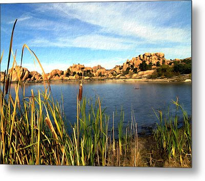 Watson Lake Metal Print by Kurt Van Wagner
