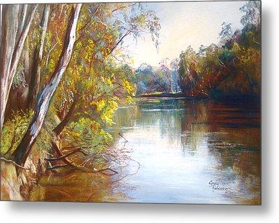 Wattle Time Goulburn River Metal Print by Lynda Robinson