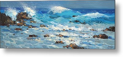 Metal Print featuring the painting Waves by Dmitry Spiros