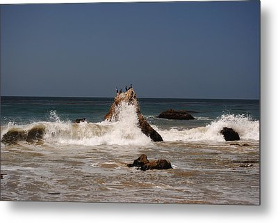 Metal Print featuring the photograph Waves In Malibu by Robert  Moss