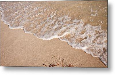 Waves On The Beach Metal Print by Adam Romanowicz