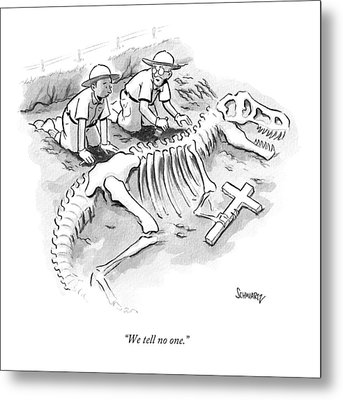 We Tell No One Metal Print by Benjamin Schwartz