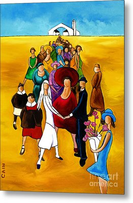 Wedding Holding Hands Metal Print by William Cain