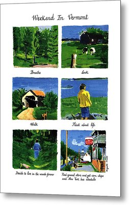 Weekend In Vermont Metal Print