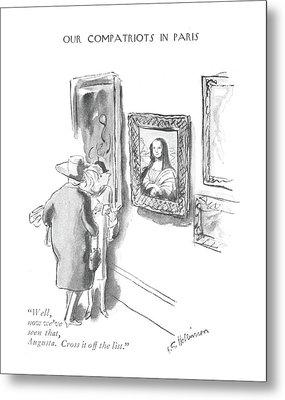 Well, Now We've Seen That, Augusta. Cross Metal Print by Helen E. Hokinson