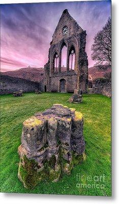 Welsh Abbey  Metal Print by Adrian Evans