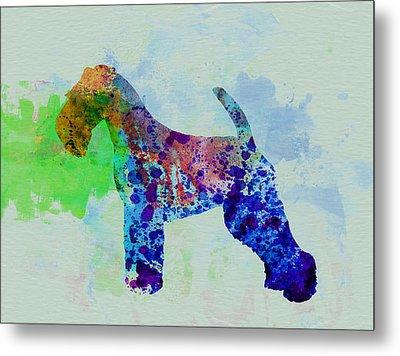 Welsh Terrier Watercolor Metal Print by Naxart Studio