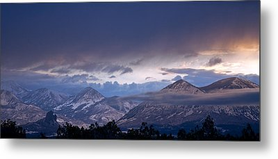 Metal Print featuring the photograph West Elk Mountains First Light by Eric Rundle