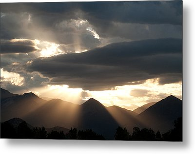 Metal Print featuring the photograph West Elk Sunbeams by Eric Rundle