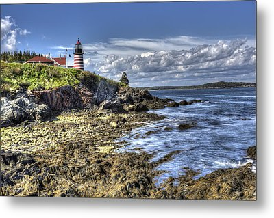 Metal Print featuring the photograph West Quoddy Lubec Maine Lighthouse by Shawn Everhart