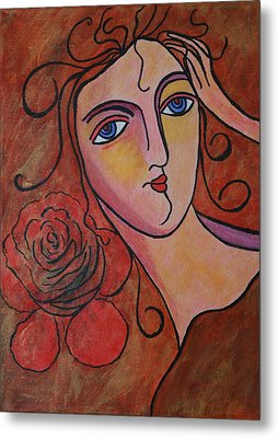 What Was Whispered To The Rose Metal Print