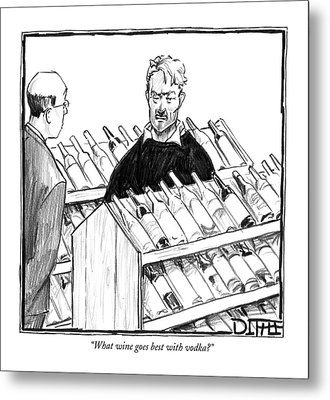 What Wine Goes Best With Vodka? Metal Print