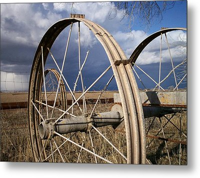 Wheels Of Water Metal Print