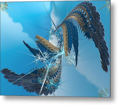 Where Angels Fell Metal Print by Camille Lopez
