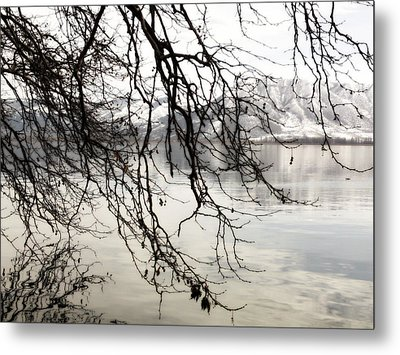 Metal Print featuring the photograph White Lake by Persephone Artworks