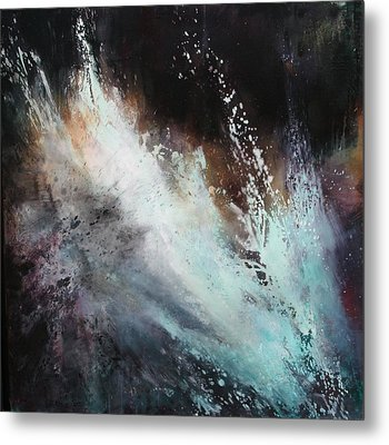 White Noise Metal Print by Lissa Bockrath