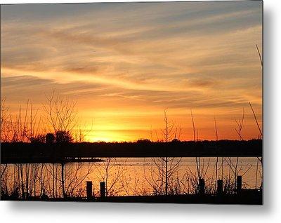 White Rock Lake Sunset Metal Print by Lorri Crossno