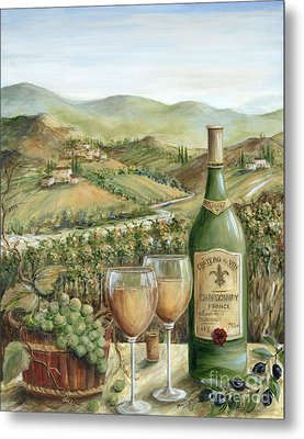 White Wine Lovers Metal Print