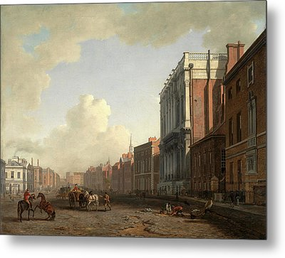 Whitehall, Looking Northeast London Signed Metal Print